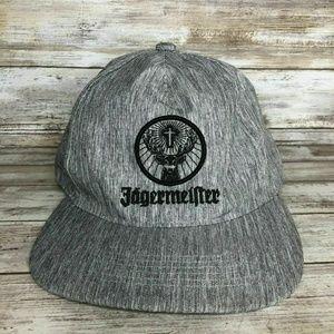Jagermeister Gray Black Snapback Trucker Hat